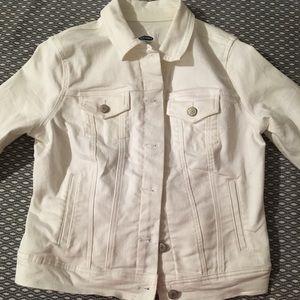 Old Navy White Denim Jacket like new
